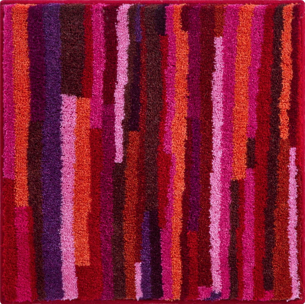 Bathroom rugs     TARA,             red-pink-violet