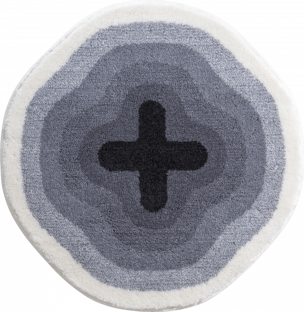 Bathroom rugs     KARIM 03,             grey