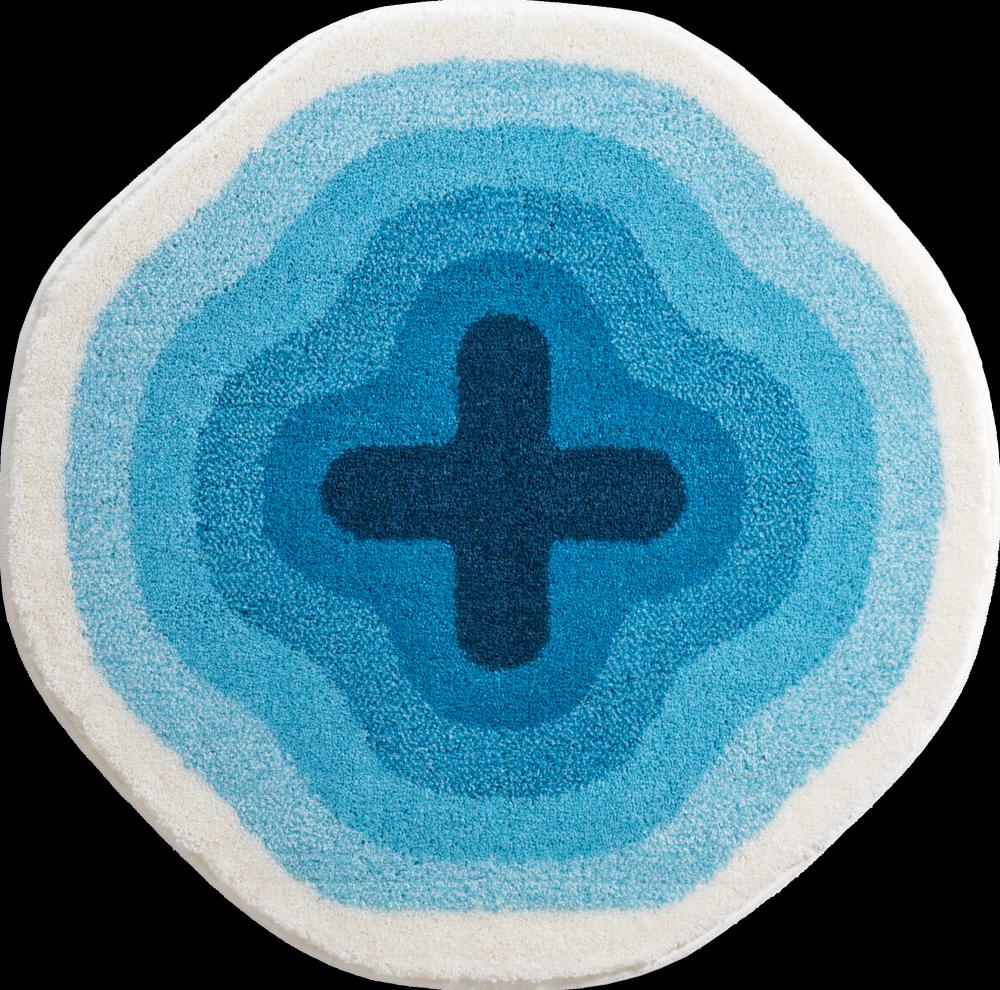 Bathroom rugs karim 03 blue grund for Bathroom carpet png