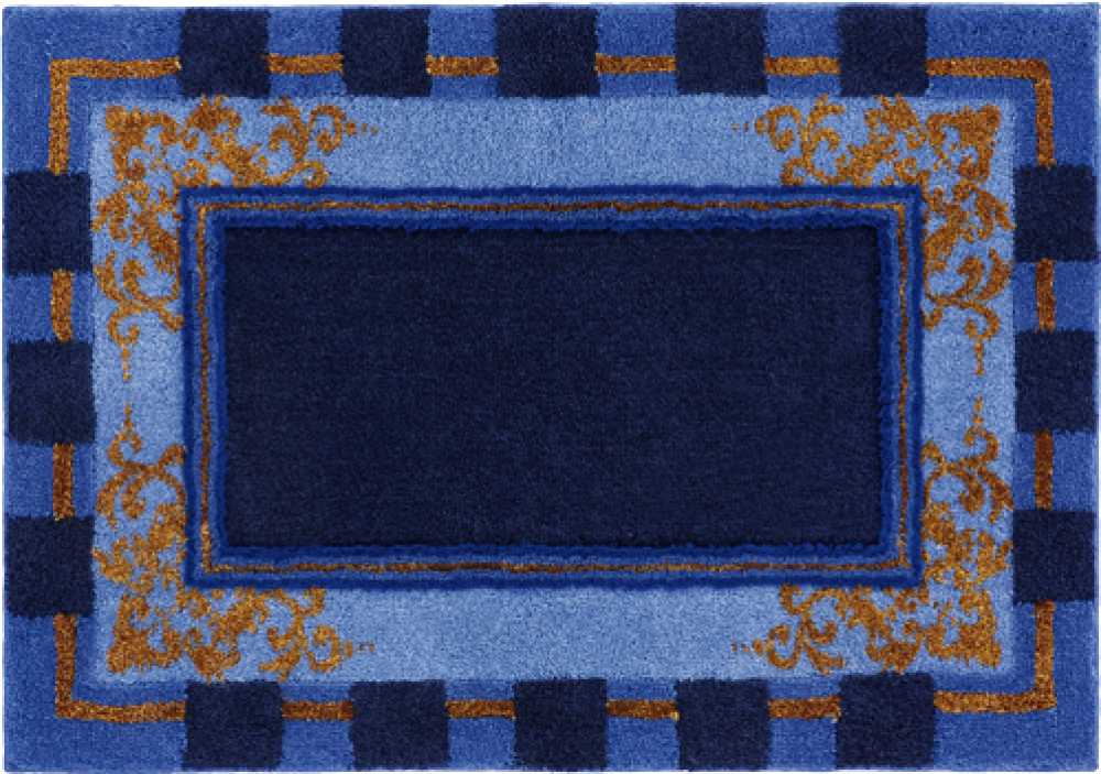 Bathroom rugs     BAROQUE,             blue