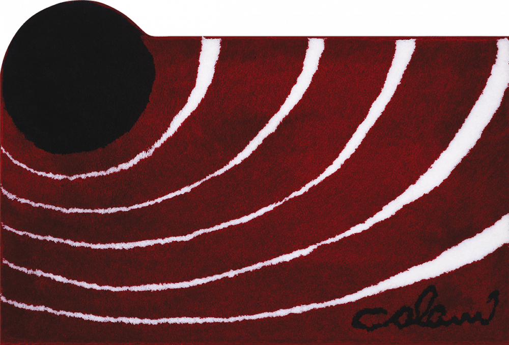 Bathroom rugs     COLANI 2,             red