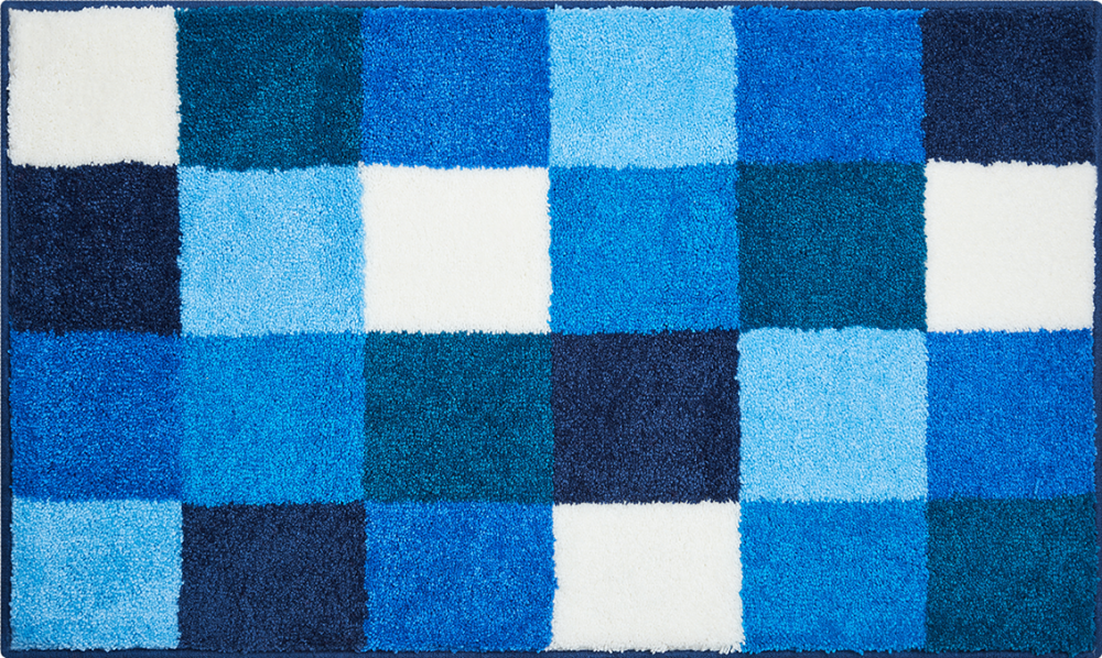 Bathroom rugs     BONA,             blue