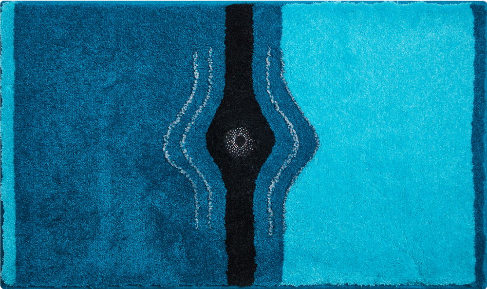 Bathroom rugs     CRYSTAL LIGHT,             turquoise