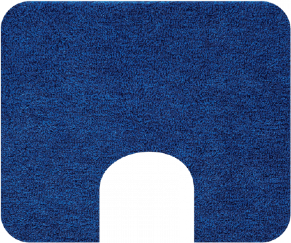 Bathroom rugs     MELOS,             blue