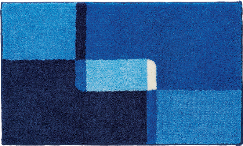 Bathroom rugs     NAXOS,             blue