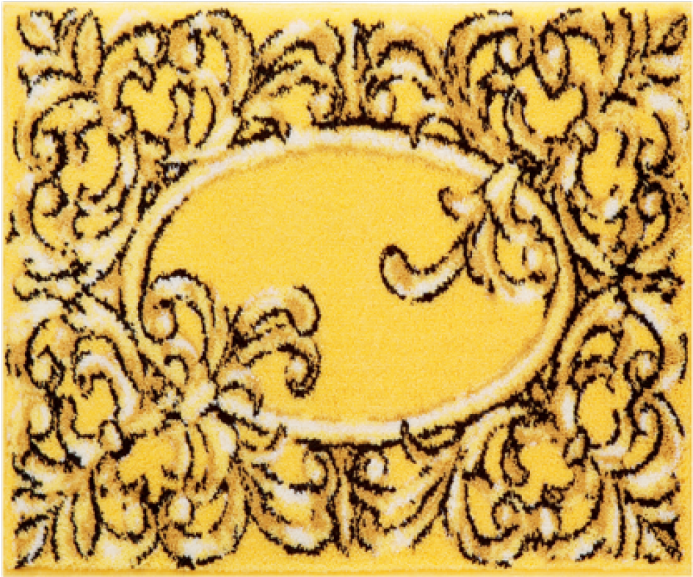 Bathroom rugs     VERSAILLES,             yellow