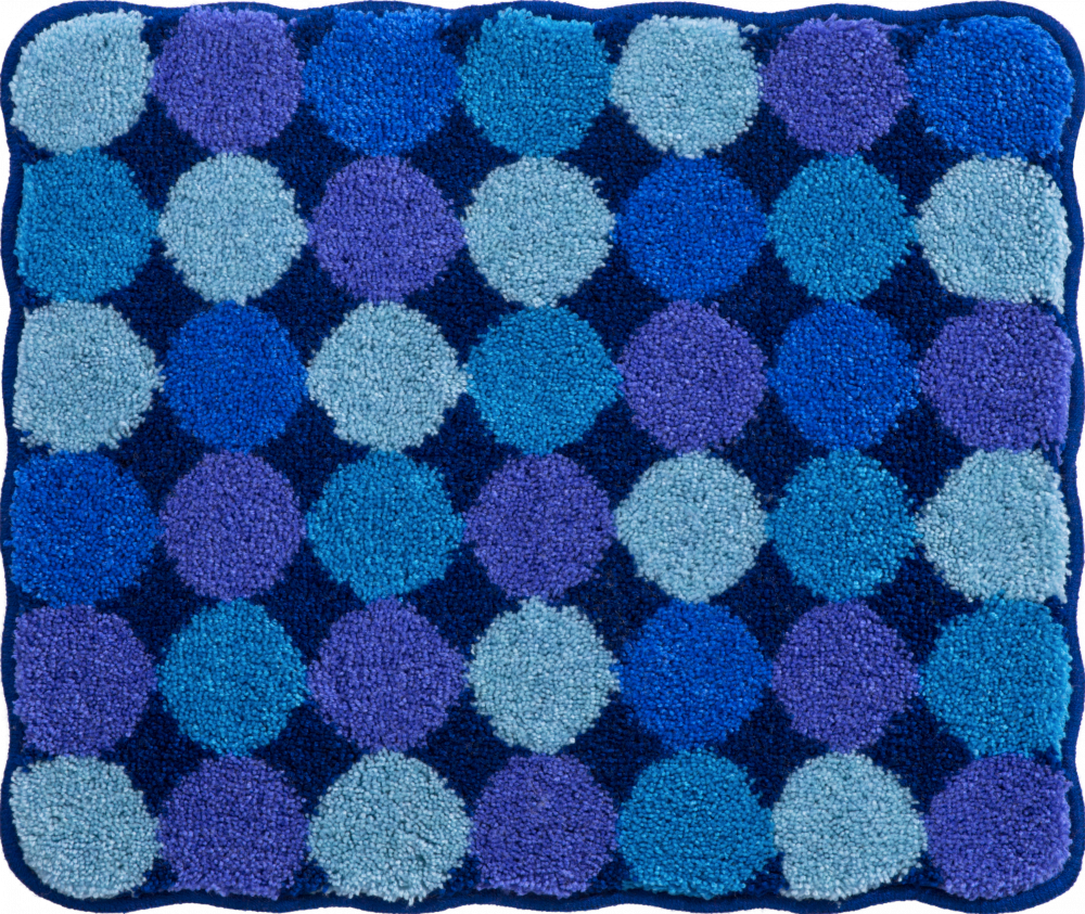Bathroom rugs     AGARTHI,             blue
